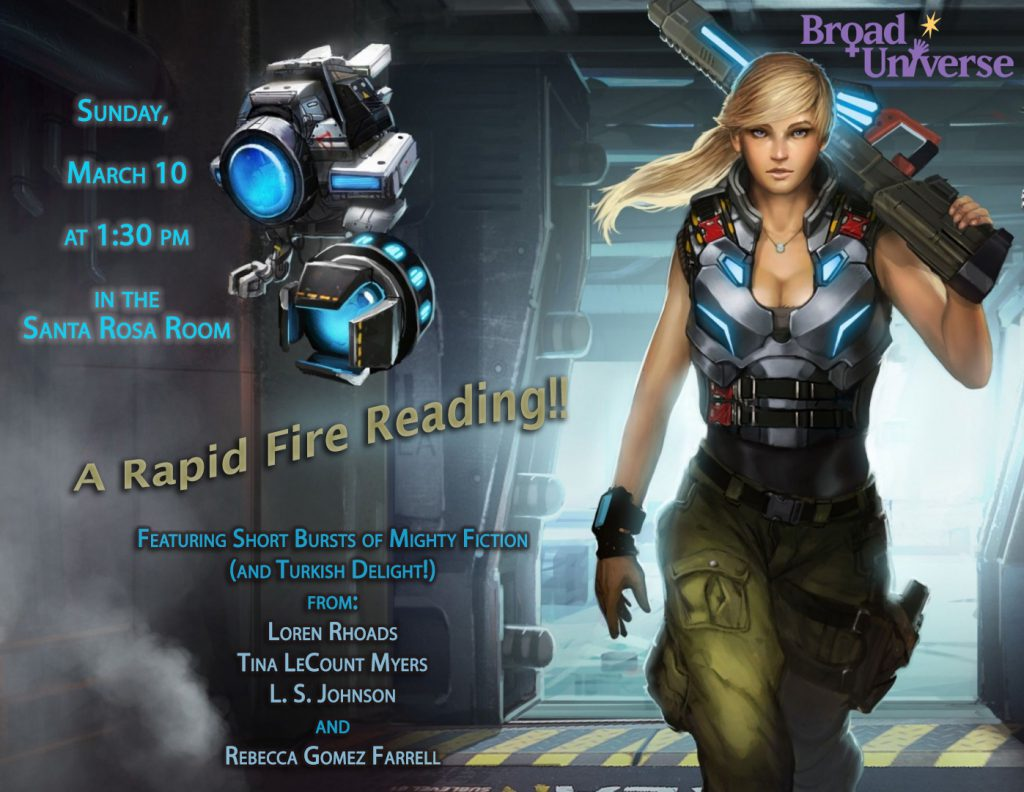 fogcon, rapid fire reading, broad universe