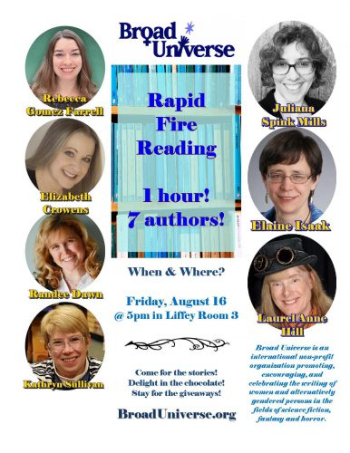 broad universe, rapid fire reading, worldcon