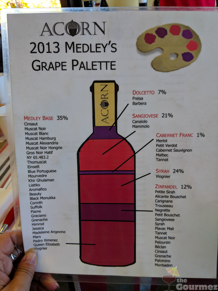 acorn winery, acorn field blend, acorn medley wine