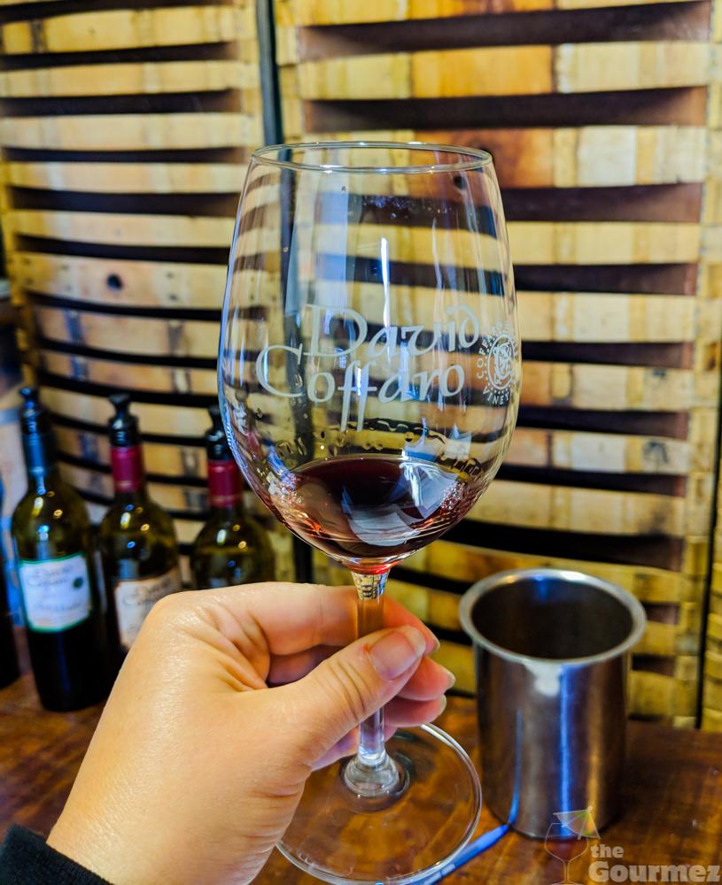 david coffaro estates, wine glass, wine, red wine