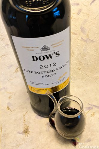 dow's, late vintage bottled, port, porto, review, 2012, tasting notes, the gourmez