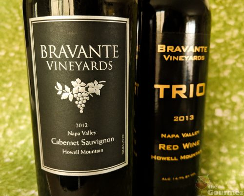 bravante, vineyards, bravante wines, cellars, cabernet sauvignon, trio, red wine blend, bordeaux, napa valley, howell mountain, tasting notes, review