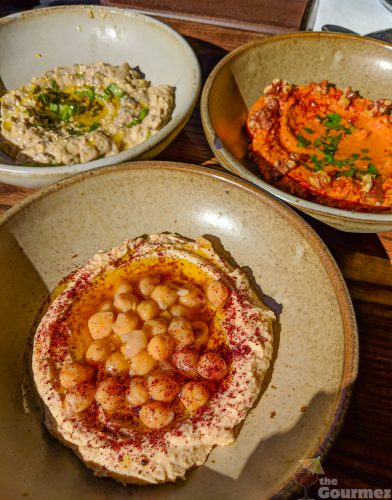 dyafa, hummus trio, hummus, oakland, jack london square