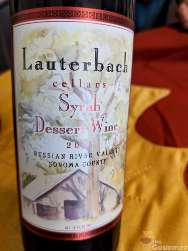 wine road, sonoma, sonoma county, lauterbach cellars, wine, tasting room, syrah dessert