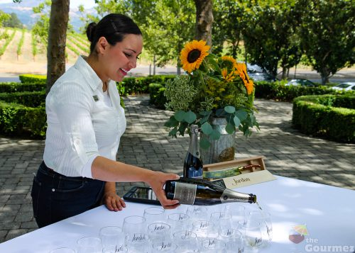 Jordan Winery, picnic lunch, winery chateau, wine country, wine travel, wine pouring
