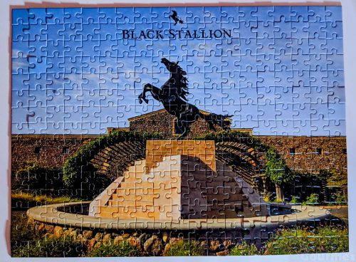 black stallion, wine, winery, estate winery, puzzle, entrance