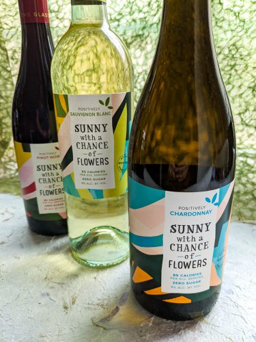 the gourmez, wine review, wine tasting, low calorie wine, low cal wine, better for you wines, low alchol wines, no sugar wines, sunny with a chance of flowers, wine, monterey wine, california wine