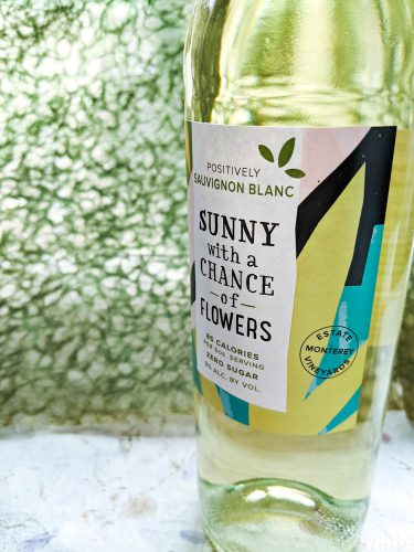 the gourmez, wine review, wine tasting, low calorie wine, low cal wine, better for you wines, low alchol wines, no sugar wines, sunny with a chance of flowers, wine, monterey wine, california wine, Sauvignon Blanc