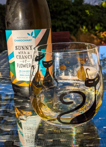 the gourmez, wine review, wine tasting, low calorie wine, low cal wine, better for you wines, low alchol wines, no sugar wines, sunny with a chance of flowers, wine, monterey wine, california wine, chardonnay