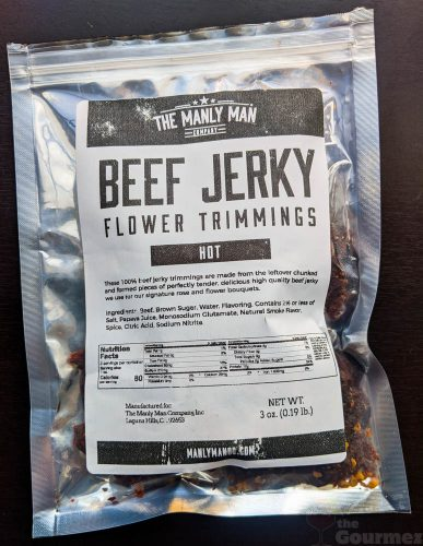 manly man, manly man co, beef jerky, jerky, meat bouquet, jerky bouquet, gift box, review, flower trimmings, hot