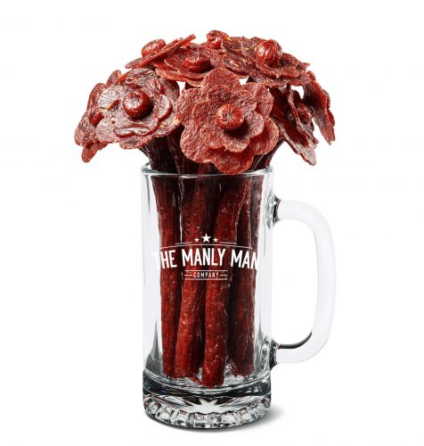 manly man, manly man co, beef jerky, jerky, meat bouquet, jerky bouquet, gift box